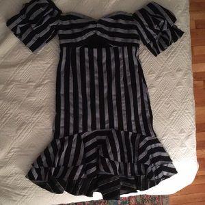 Wayf striped blue dress
